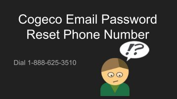 cogeco email password reset Phone Number