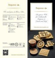 Degussa-Goldhandel - Die ganze Welt der Edelmetalle