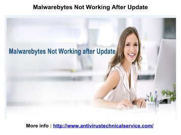 Malwarebytes Not Working After Update