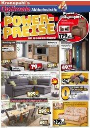 Power-Preise im ganzen Haus - Kranepuhl's optimale Möbelmärkte