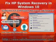 Fix HP System Recovery in Windows 10