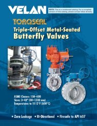 Velan Torqseal Triple-Offset Metal-Seated Butterfly Valves