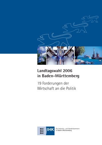 19 Forderungen der Wirtschaft an die Politik - Baden ...