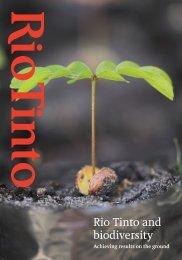Biodiversity strategy - Rio Tinto