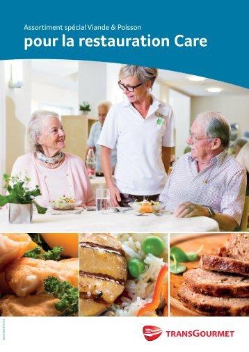 Assortiment spécial Viande et Poisson pour la restauration Care