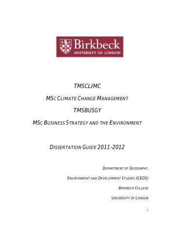 Birkbeck postgraduate dissertation proposal