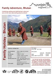 Family Holiday – Bhutan - Mountain Kingdoms