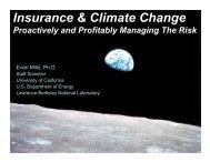 Insurance & Climate Change - Evan Mills - Lawrence Berkeley ...