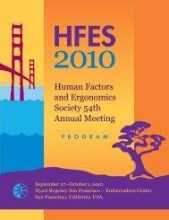 carlow - Human Factors and Ergonomics Society