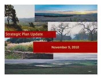 Sonoma County Strategic Plan Update November 9, 2010