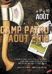 livret camp 2018