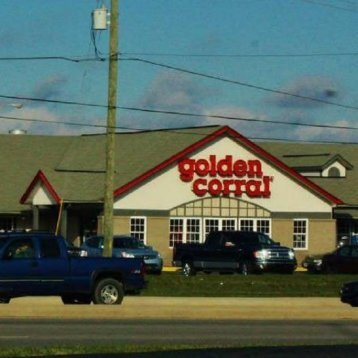 Golden Corral on E Washington St few paces to the south of Indianapolis dentist Washington Square Cosmetic & Family Dentistry