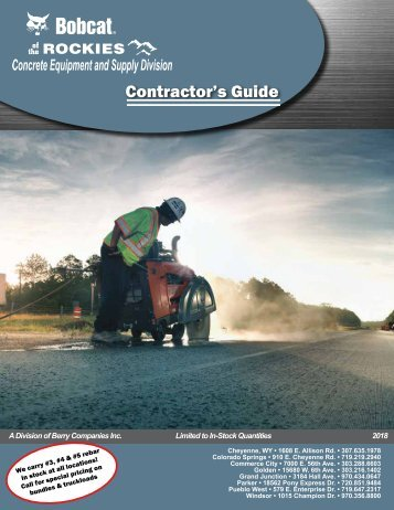 2018 Concrete Equipment and Supply - Contractor's Guide