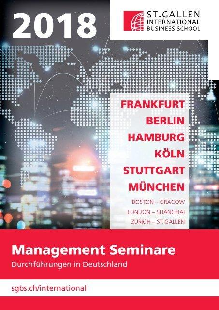 2018 Management Seminare (Durchführungen in Deutschland), St. Gallen International Business School