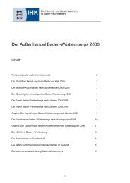 Der Außenhandel Baden-Württembergs 2006