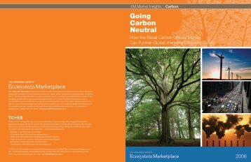 Going Carbon Neutral: How the Retail Carbon Offsets - Ecosystem ...