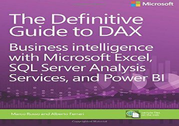 PDF DOWNLOAD Definitive Guide to DAX, The: Business intelligence with Microsoft Excel, SQL Server Analysis Services, and Power BI (Business Skills) READ ONLINE