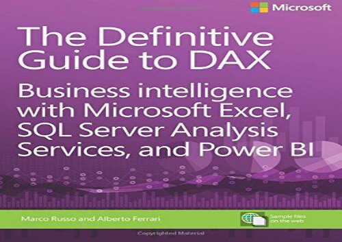 PDF DOWNLOAD Definitive Guide to DAX, The: Business
