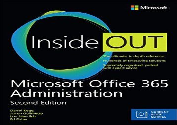 PDF FREE DOWNLOAD  Microsoft Office 365 Administration Inside Out (Includes Current Book Service) FOR IPAD