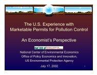 Marketable Permits or Trading programs - Environmental Protection ...