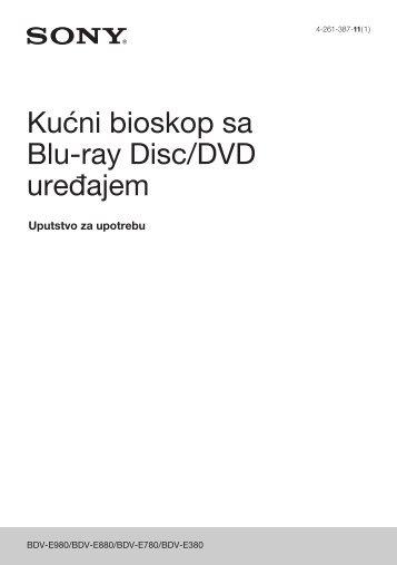 Sony BDV-E880 - BDV-E880 Mode d'emploi Serbe