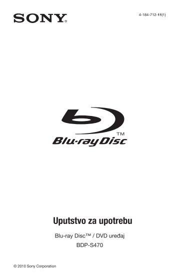 Sony BDP-S470 - BDP-S470 Mode d'emploi Serbe