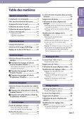 Sony NWZ-E444 - NWZ-E444 Istruzioni per l'uso Francese - Page 3