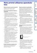 Sony MHS-FS2 - MHS-FS2 Istruzioni per l'uso Rumeno - Page 3