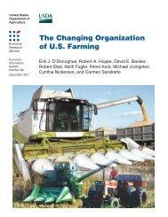 The Changing Organization of U.S. Farming - Economic Research ...