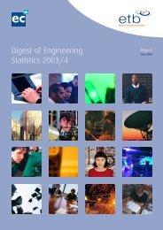 Digest of Engineering Statistics 2003/4 - Engineering Council