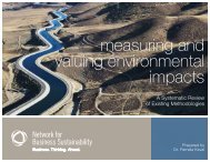 measuring and valuing environmental impacts - Network for ...
