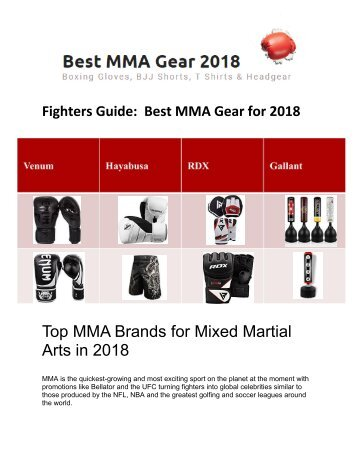 Best MMA, Martials Arts & Boxing Equipment Online UK