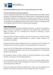 Der Deutsche Industrie- und Handelskammertag unterstützt die DG ...