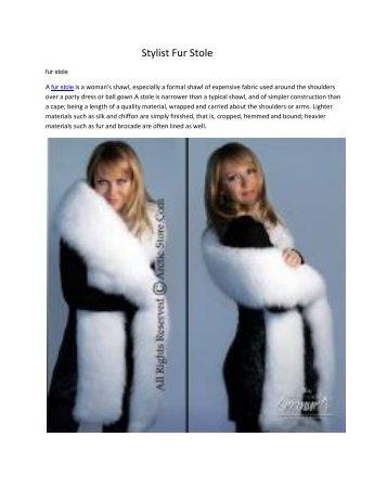 Stylist Fur Stole