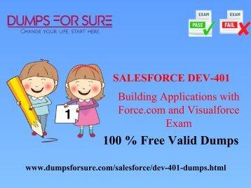 free Salesforce DEV-401 braindumps