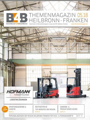 SPEDITIONSGEWERBE & LOGISTIK | B4B Themenmagazin 05.2018