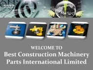 Buy Engine Spare Parts at Best Construction Machinery Parts International Limited