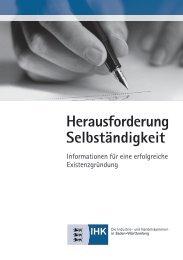 Herausforderung Selbständigkeit - Baden-Württembergischer ...