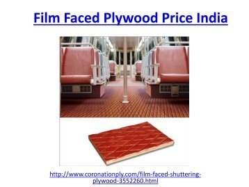Affordable film faced plywood price in India