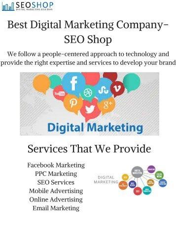 Best Digital Marketing Company- SEO Shop