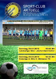 SPORT-CLUB AKTUELL - SAISON 17/18 - AUSGABE 15