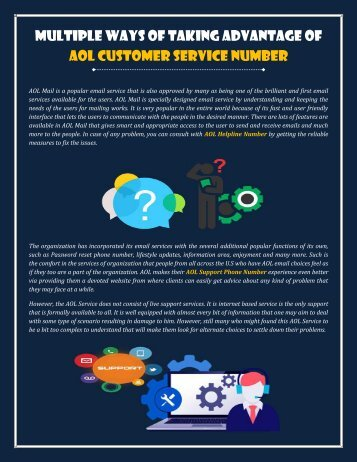 Multiple Ways of Taking Advantage of AOL Customer Service Number