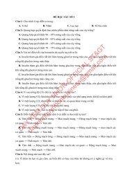 Bộ đề thi thử THPTQG Năm 2018 - Môn Sinh Học - 15 ĐỀ + ĐÁP ÁN - Chinh phục điểm 9-10 - Tuyensinh247 (Without explanation)
