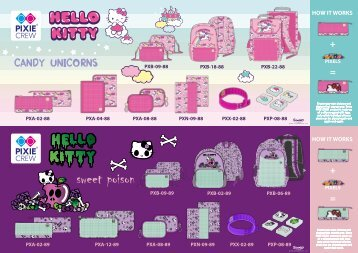 PIXIE CREW HELLO KITTY 2018 catalogue