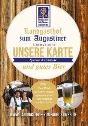 Speisekarte Landgasthof zum Augustiner Oberstdorf