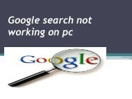 Google search not working on pc (1)