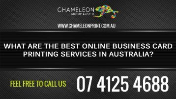 What are The Best Online Business Card Printing Services in Australia?