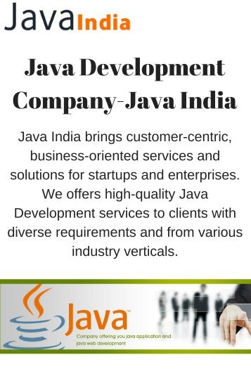 Java Development Company- Java India