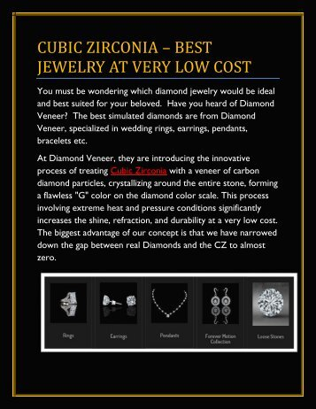 Cubic Zirconia – Best Jewelry at Very Low Cost