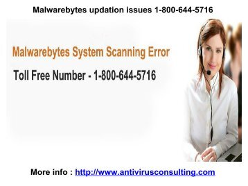 Malwarebytes updation issues 1-800-644-5716